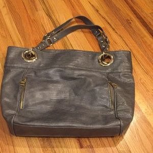 Steve Madden Gray Tote with Gold Hardware